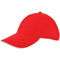 Kinder brushed promo cap rood/naturel 1750