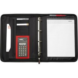 Polyester ritsmap (A4) met een calculator 7215