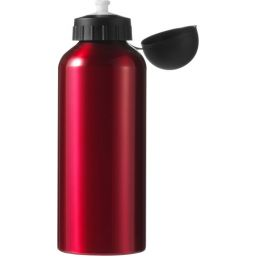 Aluminium drinkfles / bidon (650 ml) rood 7509